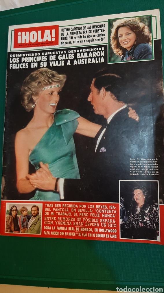 HOLA 2151 AÑO 1985 PRÍNCIPES GALES AUSTRALIA ISABEL PANTOJA /JASMINA KHAN / HOLLYWOOD FAMILIA MÓNACO (Coleccionismo - Revistas y Periódicos Modernos (a partir de 1.940) - Revista Hola)