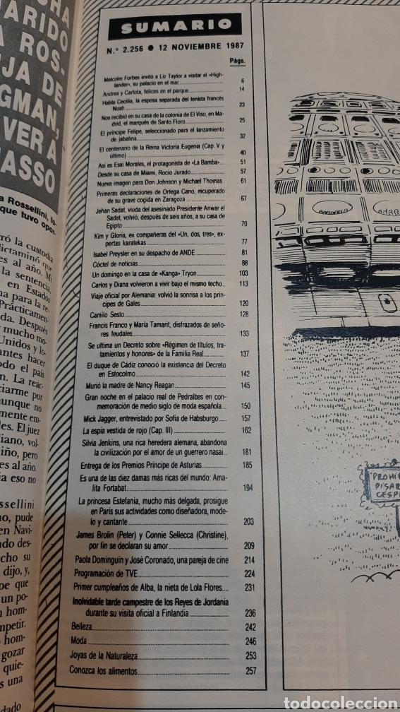 Coleccionismo de Revista Hola: HOLA 2256 1987 PRÍNCIPES GALES /DUQUE CÁDIZ / CAMILO SESTO /MICK JAGGER/LIZ TAYLER/FELIPE PRINCIPE/ - Foto 14 - 256019480