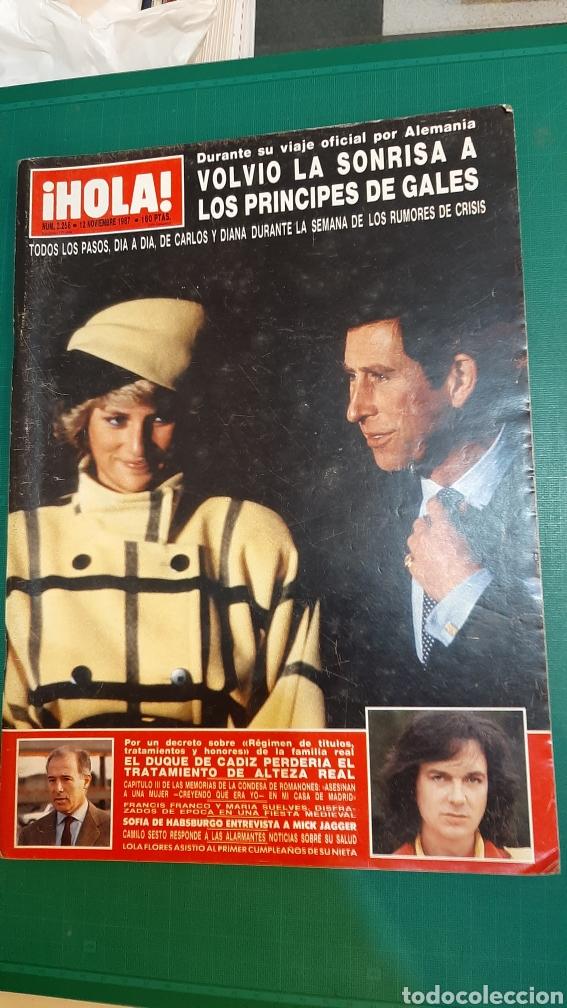 HOLA 2256 1987 PRÍNCIPES GALES /DUQUE CÁDIZ / CAMILO SESTO /MICK JAGGER/LIZ TAYLER/FELIPE PRINCIPE/ (Coleccionismo - Revistas y Periódicos Modernos (a partir de 1.940) - Revista Hola)
