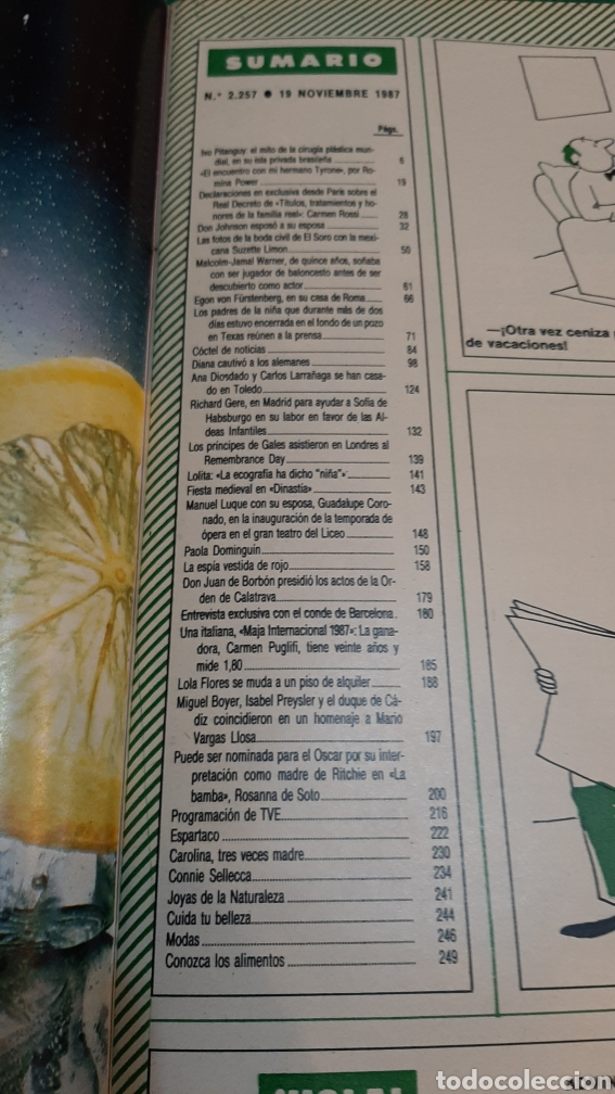 Coleccionismo de Revista Hola: HOLA 2257 1987 CARLOS LARRAÑAGA /PAOLA DOMÍNGU8N/ DIANA GAKES ALEMANIA/LILA FLORES/RICHARD GERE/ - Foto 7 - 256020655