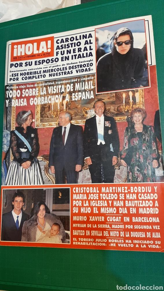 HOLA 2413 1990 CAROLINA MÓNACO _REYES ESPAÑA RAISA GIBACHOV RUSIABORDIU /XAVIER CUGAT MURIO/ D.ALBA (Coleccionismo - Revistas y Periódicos Modernos (a partir de 1.940) - Revista Hola)