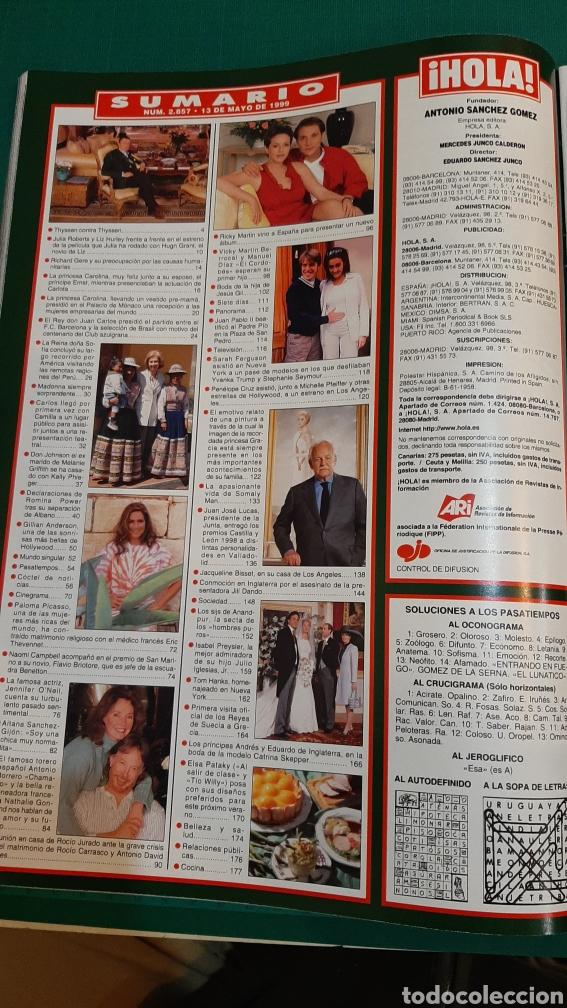 Coleccionismo de Revista Hola: HOLA 2857 1999 RICIO CARRASCO /MÓNACO /THYSSEN CONTRA THYSSEN/ VIKY BERROCAL/JESÚS GIL BODA - Foto 3 - 256025625
