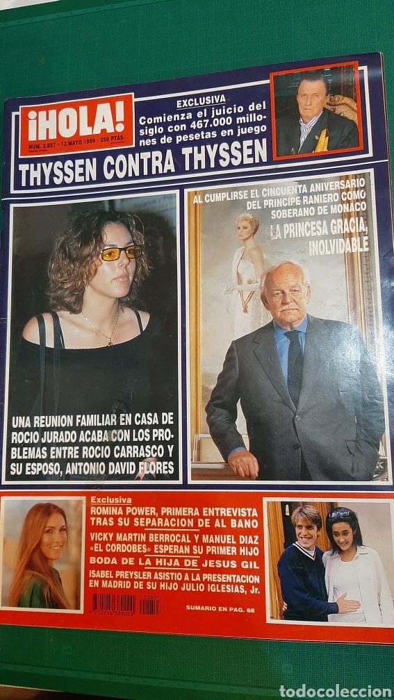 HOLA 2857 1999 RICIO CARRASCO /MÓNACO /THYSSEN CONTRA THYSSEN/ VIKY BERROCAL/JESÚS GIL BODA (Coleccionismo - Revistas y Periódicos Modernos (a partir de 1.940) - Revista Hola)