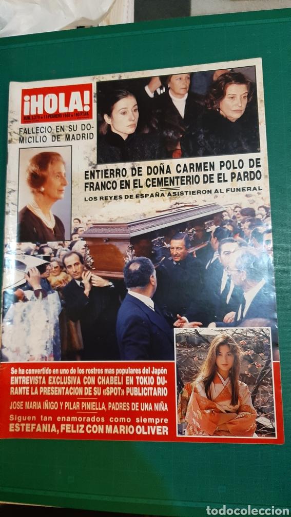 HOLA AÑO 1988 ENTIERRO CARMEN POLO DE FRANCO/ CHABELI TOKIO/ ESTAFANIA / ISABEL PANTOJA DISCOS (Coleccionismo - Revistas y Periódicos Modernos (a partir de 1.940) - Revista Hola)