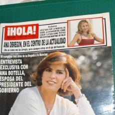 Coleccionismo de Revista Hola: HOLA 2860 1999 ANA BOTELLA/ ANA OBREGÓN VER SUMARIO. Lote 256027150