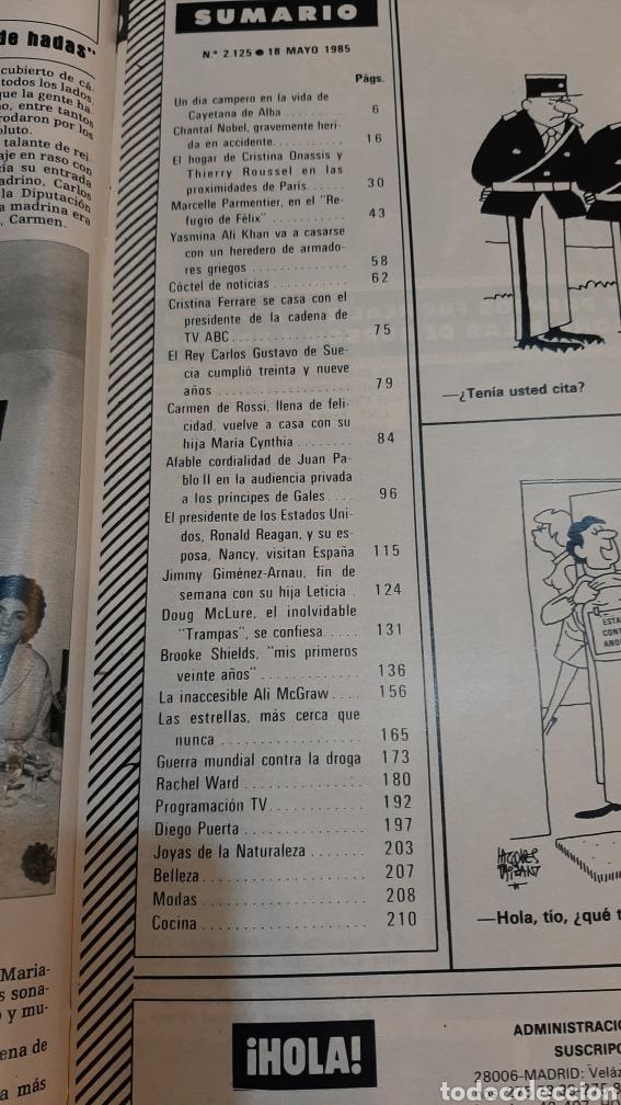 Coleccionismo de Revista Hola: HOLA 2125 1985 CAYETANA ALBA/ CRUSTINA ONASIS/ EL PRESIDENTE EEUU ESPAÑA / GALES PAPA VER SUMARIO - Foto 2 - 256027925