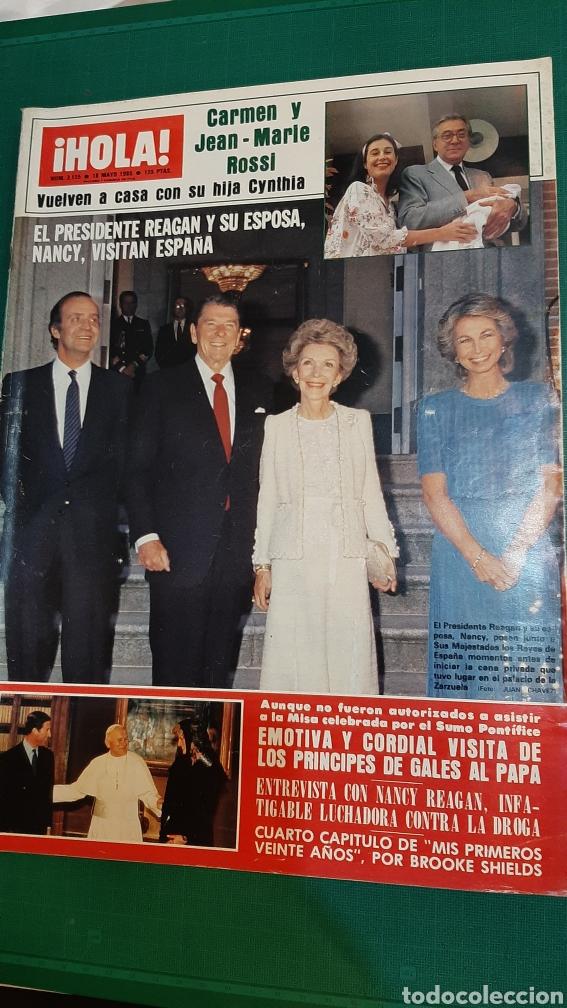 HOLA 2125 1985 CAYETANA ALBA/ CRUSTINA ONASIS/ EL PRESIDENTE EEUU ESPAÑA / GALES PAPA VER SUMARIO (Coleccionismo - Revistas y Periódicos Modernos (a partir de 1.940) - Revista Hola)
