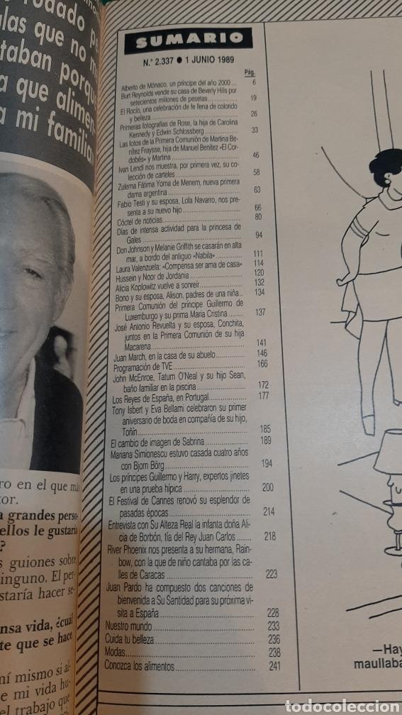 Coleccionismo de Revista Hola: HOLA 2337 1989 ALICIA KOPLOWITZ/ DIANA GALES/ALBERTO MÓNACO /Reyes Portugal/cannes/Juan pardo/Sabrin - Foto 2 - 256031750