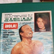 Coleccionismo de Revista Hola: HOLA 2101 AÑO 1984 JULIO IGLESIAS/ALAIN DELON/ MIS MUNDO/ CAYETANO SUMARIO VER. Lote 257292275
