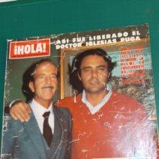Coleccionismo de Revista Hola: HOLA ALO 1982 ENERO JULIO IGLESIAS Y PADRE LIBERACIÓN /JATHARINE HEPBURN//INFANTAS. Lote 257293270