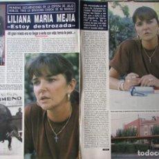 Coleccionismo de Revista Hola: RECORTE REVISTA HOLA N.º 2407 1990 LILIANA MARÍA MEJIA 4 PGS. Lote 257305055