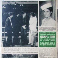 Coleccionismo de Revista Hola: RECORTE REVISTA HOLA N.º 2407 1990 ASSUMPTA SERNA. Lote 257305210