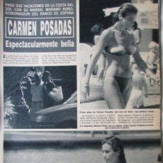 Coleccionismo de Revista Hola: RECORTE REVISTA HOLA N.º 2407 1990 CARMEN POSADAS. Lote 257306620