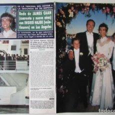 Coleccionismo de Revista Hola: RECORTE REVISTA HOLA N.º 2407 1990 JAMES CAAN E INGRID HAJEK 4 PGS. Lote 257307215