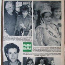 Coleccionismo de Revista Hola: RECORTE REVISTA HOLA N.º 2407 1990 SILVIA DE ESTEBAN , MISS INTERNACIONAL. Lote 257307680