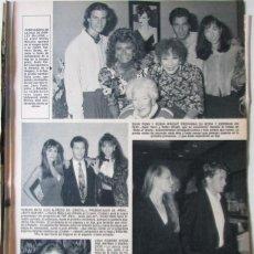 Coleccionismo de Revista Hola: RECORTE REVISTA HOLA N.º 2407 1990 LOLA FORNER, CARLOS MATA, JACQUELINE DE LA VEGA, ELISA MATILLA. Lote 257307980