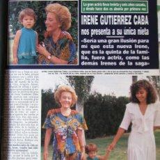 Coleccionismo de Revista Hola: RECORTE REVISTA HOLA N.º 2407 1990 IRENE GUTIERREZ CABA 3 PGS. Lote 257310065