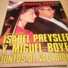 Coleccionismo de Revista Hola: REVISTA DÍEZ MINUTOS - N ° 1773 / 1985 - PRIMERAS FOTOS DE ISABEL PREYSLER Y MIGUEL BOYER JUNTOS. Lote 257348430