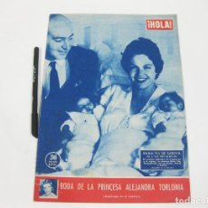 Coleccionismo de Revista Hola: REVISTA HOLA Nº 722 DE 28 DE JUNIO DE 1958. MARÍA PIA DE SABOYA. ALEJANDRA TORLONA. Lote 257490985
