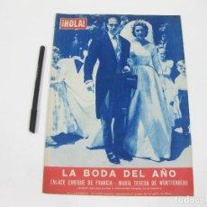 Coleccionismo de Revista Hola: REVISTA HOLA Nº 672 DE 18 DE JULIO DE 1957. ENRIQUE DE FRANCIA Y ELENA DE WÜRTTENBERG. Lote 257492180