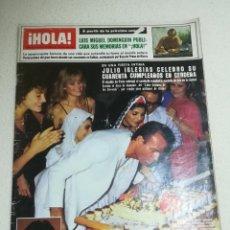 Coleccionismo de Revista Hola: REVISTA ¡HOLA!. Nº 2041. OCTUBRE 1983. LUIS MIGUEL DOMINGUIN, JULIO IGLESIAS CUMPLE 40 AÑOS. Lote 258031805