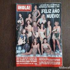 Coleccionismo de Revista Hola: REVISTA HOLA, NÚMERO 2735, 9 DE ENERO DE 1997, FELIZ AÑO NUEVO 1997 CON LAS MÁS BELLAS MODELOS.. Lote 258211970