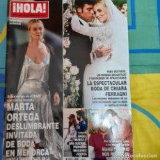 Coleccionismo de Revista Hola: REVISTA HOLA NUMERO 3867 MARTA ORTEGA, CHIARA FERRAGNI. Lote 259000420