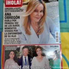 Coleccionismo de Revista Hola: REVISTA HOLA NUMERO 3871 ANA OBREGÓN, JOSÉ ORTEGA CANO. Lote 259006885