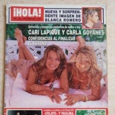 Coleccionismo de Revista Hola: HOLA 3.188 CARLA GOYANES.EUGENIA MARTINEZ DE IRUJO.COLATE.A.SANZ.SHAKIRA.PAULINA ETC...... ETC.... Lote 261606655