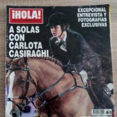Coleccionismo de Revista Hola: HOLA 3463.CARLOTA CASIRAGHI.DUQUESA DE ALBA.ISABEL PREYSLER ETC.... Lote 262429075