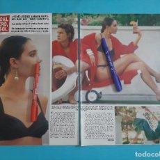 Coleccionismo de Revista Hola: MISS EUROPA JUNCAL RIVERO AL SOL - ENTREVISTA - RECORTE 3 PAG - AÑO 1986. Lote 262642195