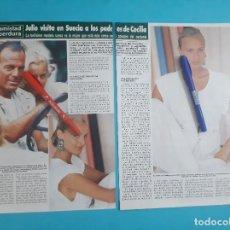 Coleccionismo de Revista Hola: JULIO IGLESIAS VISITA EN SUECIA A PADRES DE CECILIA - RECORTE 3 PAG - AÑO 1986. Lote 262643145