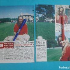 Coleccionismo de Revista Hola: SUSSANE FERGUSON -SARAH Y PRINCIPE ANDRES ME DARAN MUCHOS HIJOS -ENTREVISTA -RECORTE 3 PAG- AÑO 1986. Lote 262643915