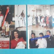 Coleccionismo de Revista Hola: ENRIQUE Y MARIA TERESA DE LUXEMBURGO BAUTIZAN 3 HIJO -RECORTE 4 PAG- AÑO 1986. Lote 262644140