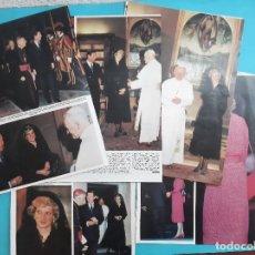 Coleccionismo de Revista Hola: DIANA LADY DI EN ROMA CON JUAN PABLO II Y VISITA FLORENCIA Y ITALIA - RECORTE 12 PAG - AÑO 1986. Lote 262812375