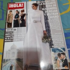 Coleccionismo de Revista Hola: REVISTA HOLA NUMERO 3880 LA BODA DE ALEJANDRA DE ROJAS Y BELTRÁN CAVERO. Lote 262947405