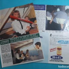 Coleccionismo de Revista Hola: CARMEN HARTO BAUTIZÓ A SU HIJA MARINA- ENTREVIST - RECORTE 5 PAG - AÑO 1985. Lote 262962055