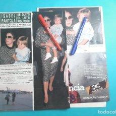 Coleccionismo de Revista Hola: ISABEL PANTOJA QUITA LUTO- VIAJÓ DE SEVILLA MADRID CON HIJO FRANCISCO JOSE- RECORTE 5 PAG - AÑO 1985. Lote 262963755