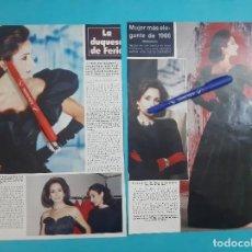 Coleccionismo de Revista Hola: NATI ABASCAL -DUQUESA FERIA - MUJER MAS ELEGANTE 1986 - ENTREVISTA - RECORTE 3 PAG - AÑO 1987. Lote 263093880