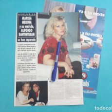 Coleccionismo de Revista Hola: MARISA MEDINA Y ALFONSO SANTISTEBAN SE HAN SEPARADO - RECORTE 4 PAG - AÑO 1987. Lote 263094185