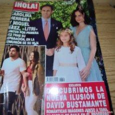 Coleccionismo de Revista Hola: HOLA: CAROLINA HERRERA, LUIS BAEZ EL LITRI, DAVID BUSTAMANTE. Lote 263250295