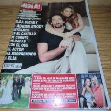 Coleccionismo de Revista Hola: HOLA: ELSA PATAKY, ADRIEN BRODI, ISABEL PREYSLER, GWYNETH PALTROW. Lote 263253830