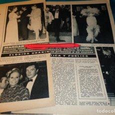 Coleccionismo de Revista Hola: RECORTE : URSULA ANDRESS, EN LA GALA FUNNY GIRL. BARBRA STREISAND. HOLA, MARZO 1968(#). Lote 266413248