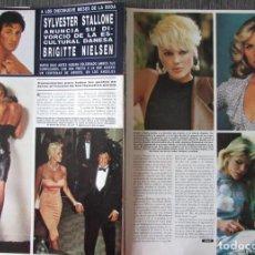 Coleccionismo de Revista Hola: RECORTE REVISTA HOLA N.º 2241 1987 SYLVESTER STALLONE. BRIGITTE NIELSEN 7 PGS. Lote 267616604