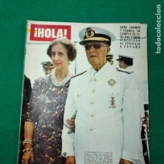 Coleccionismo de Revista Hola: REVISTA HOLA Nº 1631. EL CAUDILLO HA MUERTO. LUTO NACIONAL, DOÑA CARMEN Y FRANCO. 29 NOVIEMBRE 1975. Lote 268761799