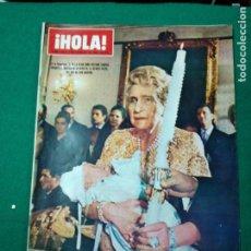 Coleccionismo de Revista Hola: REVISTA HOLA Nº 1225. LA REINA DOÑA VICTORIA EUGENIA EN EL BAUTIZO DEL INFANTE FELIPE. FEBRERO 1968. Lote 268767189