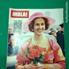 Coleccionismo de Revista Hola: REVISTA HOLA Nº 1229. LA REINA FABIOLA DE LOS BELGAS, A TODO COLOR: NOVIAS EN PRIMAVERA. MARZO 1968. Lote 268767484