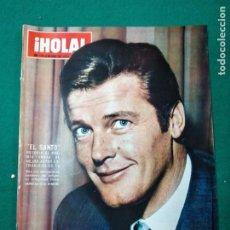 Coleccionismo de Revista Hola: REVISTA HOLA Nº 1213. ROGER MOORE, EL SANTO: PREMIO ONDAS. ULTIMA NOVIA DEL CORDOBES. NOVIEMBRE 1967. Lote 268768094