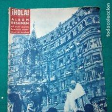 Coleccionismo de Revista Hola: REVISTA HOLA Nº 406. ALBUM RESUMEN DEL XXXV CONGRESO EUCARISTICO DE BARCELONA. JUNIO 1952. Lote 268768409