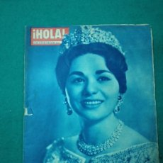 Coleccionismo de Revista Hola: REVISTA HOLA Nº 842. FARAH DIBA, LA REINA DE PERSIA. EL SHA ACORTA SUS VACACIONES. OCTUBRE 1960. Lote 268769149